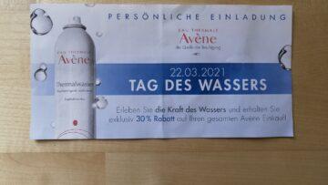 Spüren Sie die Kraft des Wassers: 30 Prozent auf  Avène-Kosmetik am 22.3.21